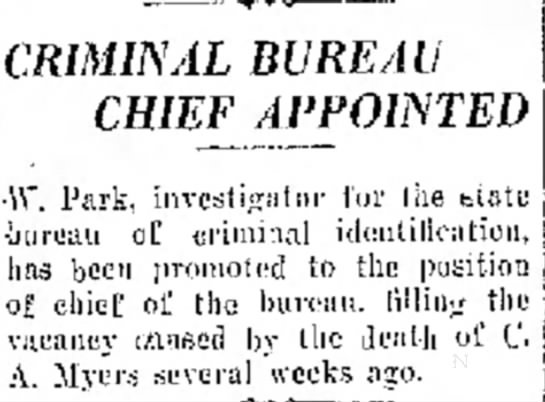 Park Appointed 7/8/30 -