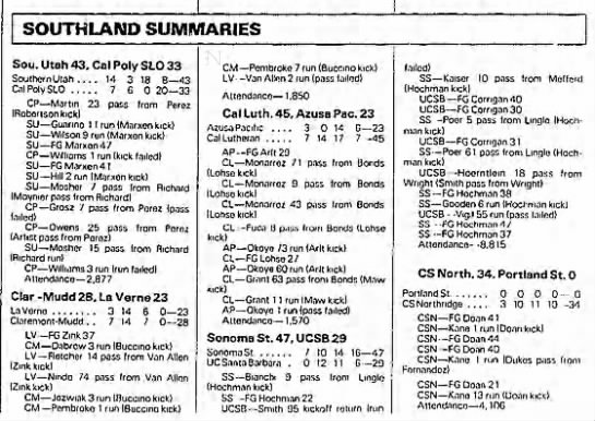 Southland Summaries 19861116 -