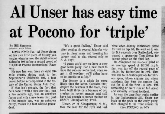 1978 Pocono 500 -