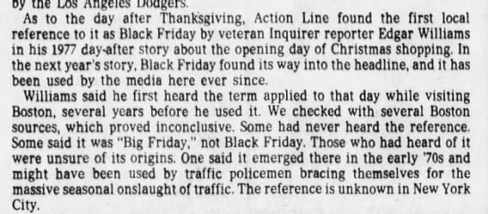 """Philly Inquirer reporter remembers first hearing """"Black Friday"""" in Boston -"""