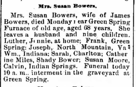 Susan Bowers obit