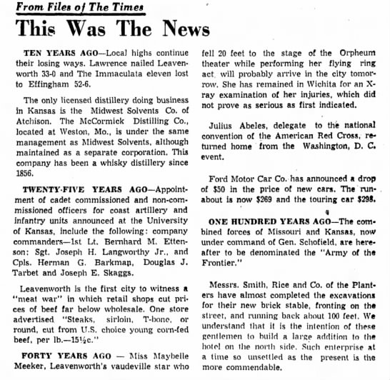 Maybelle Meeker fall - From Files of The Times This Was The News TEN...