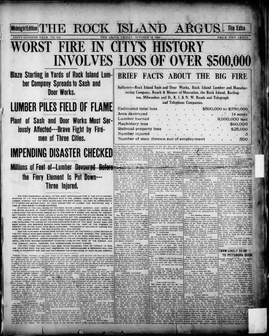 Special Midnight Fire Edition - October 16, 1908 -