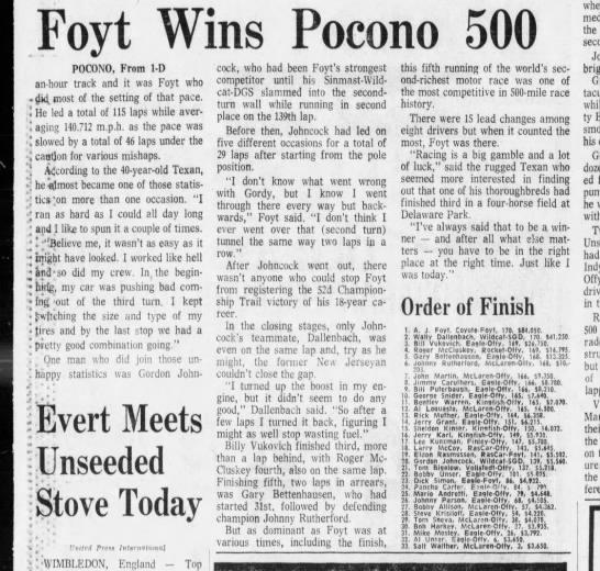 1975 Pocono 500 -