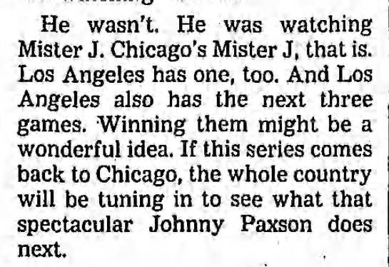 Johnny Paxson -