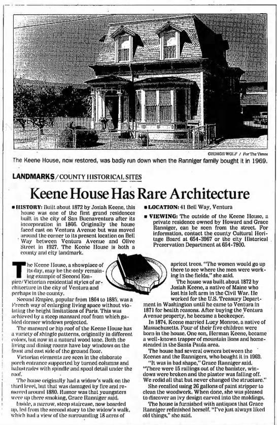 Keene House Has Rare Architecture -