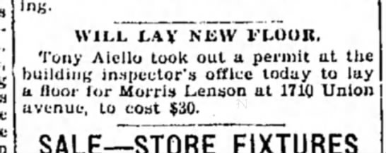 New floor- 11 July 1929 -