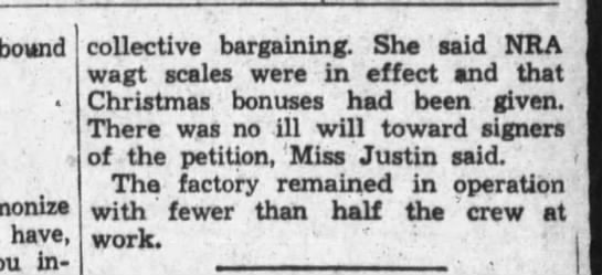 Longview News 7 May 1937 - collective bargaining. She said NBA wagt scales...
