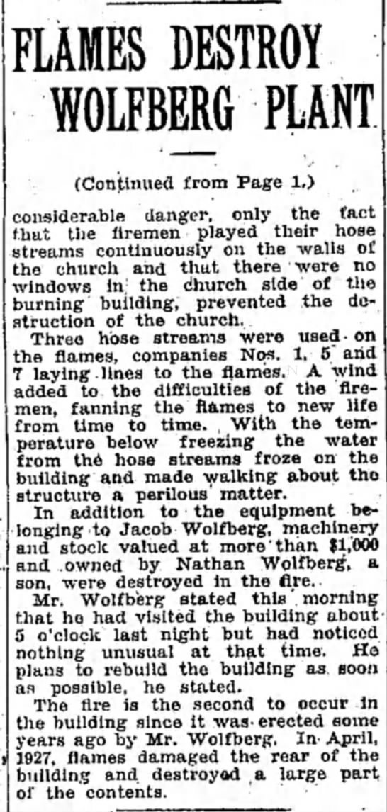 Part 2 of more on fire-23 Dec 1929 -