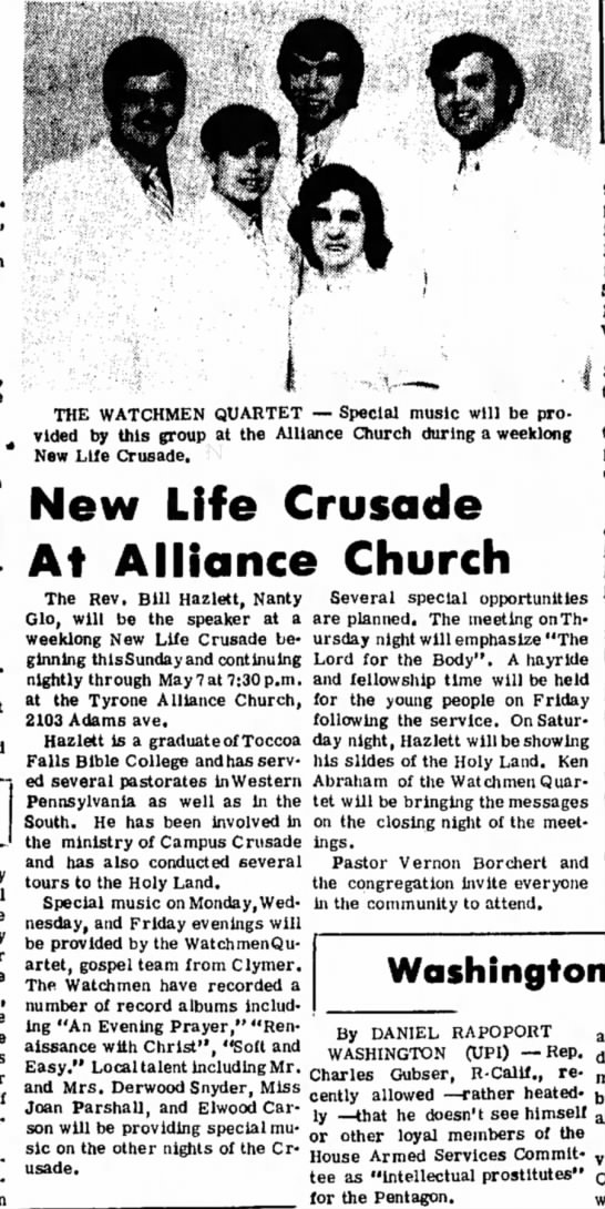 Tyrone Alliance April 29 1972 -