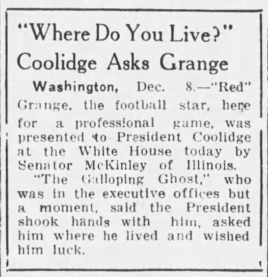"""Where Do You Live?"" Coolidge Asks Grange -"