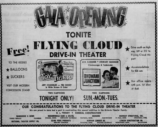 Flying Cloud Drive-In opening -