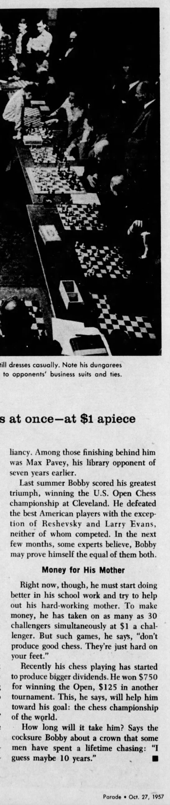 Only 14, he's a chess whiz (Column 6) -