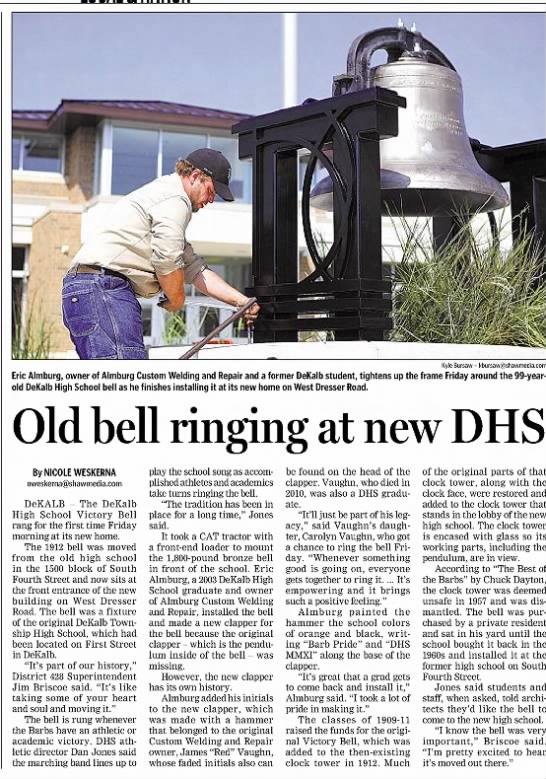 Old Bell Ringing at new DHS -