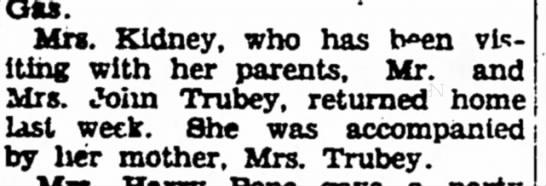 John Trubey - 4 December 1928 Iola Register -