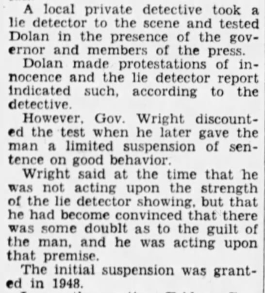 Dolan released from Phantom Barber sentence, passes lie detector test -