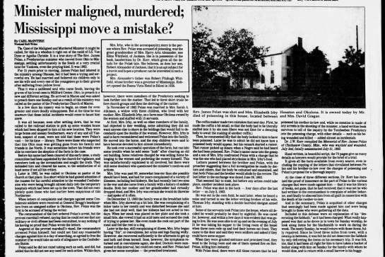 Murder of Rev. James Pelan -