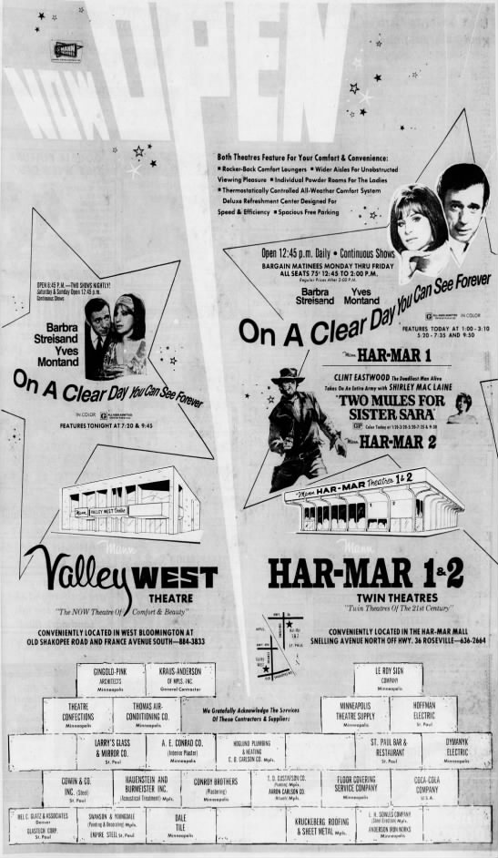 Har-Mar and Valley West theatres openings -