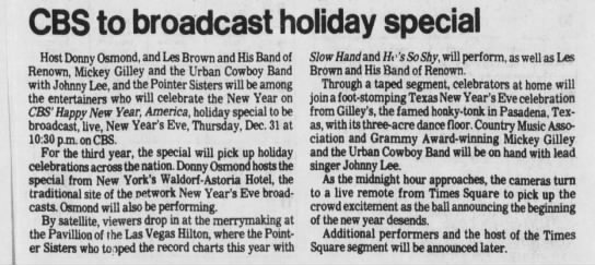 CBS to broadcast holiday special -