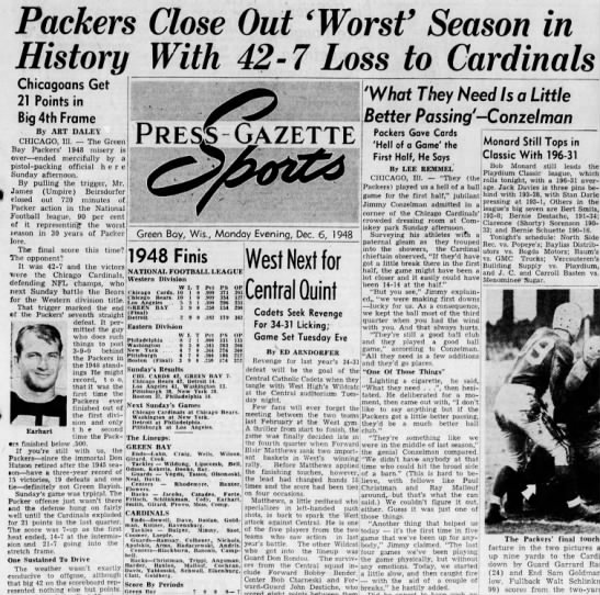 Packers Close Out 'Worst' Season in History With 42-7 Loss to Cardinals -