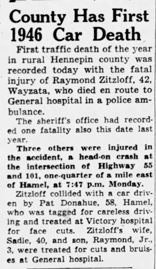 Minneapolis Star -- Fatal car accident - Newspapers com