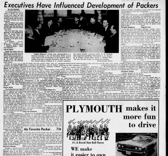 Packer history by Lee Remmel -