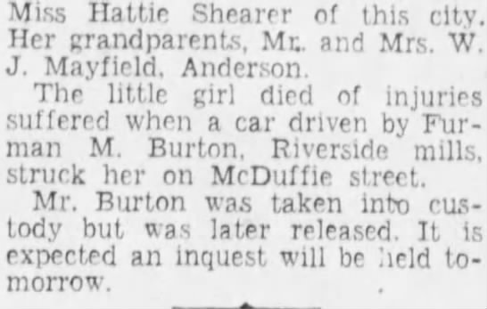 Viola June Shearer Greenville News 23 Jul 1934 p7 -