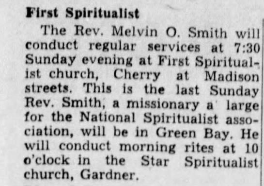 Rev Melvin O Smith -