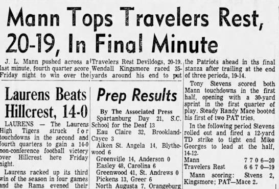 1968 TR-Mann close game -