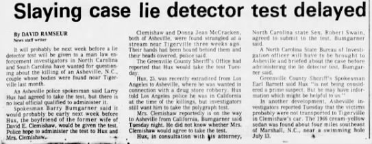 McCracken, Donna, The Greenville News, Greenville, SC, Aug 2 1978