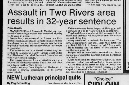 32 years in jail steven avery march 11 1986 -