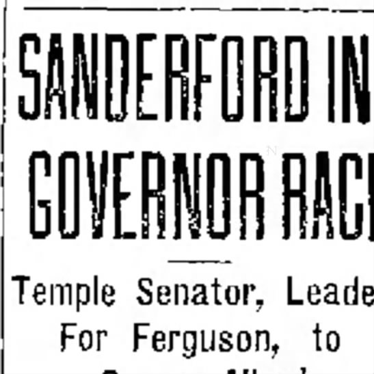 Sanderford - Temple Senator, Leader For Ferguson, to