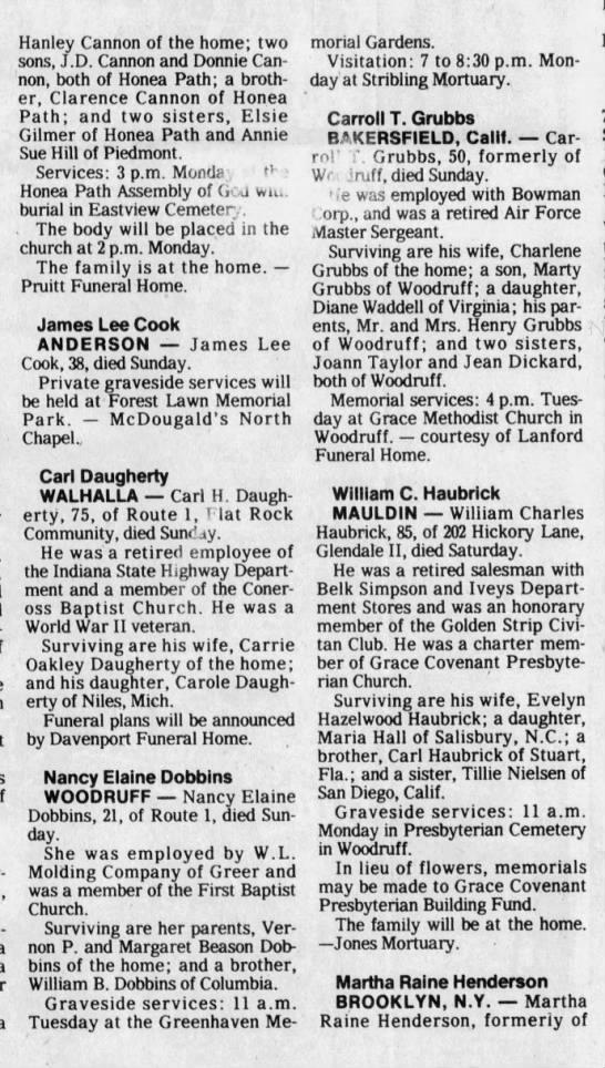 Nancy Dobbins obituary - Newspapers com