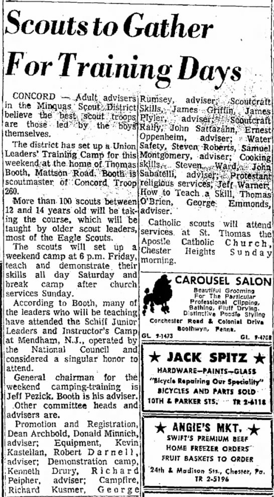 Campfire Scout Advisor Delaware County Daily Times (Chester, PA) 24