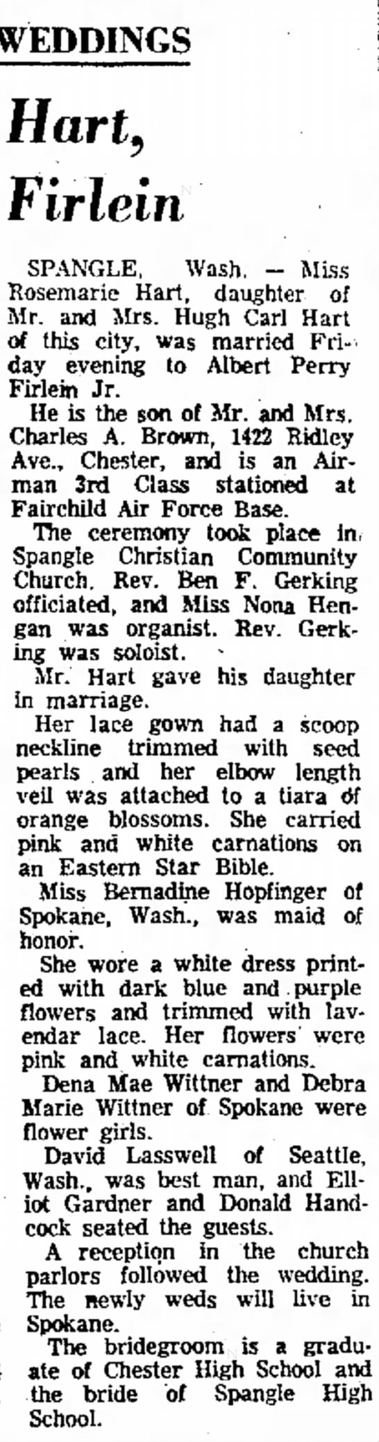 Delaware County Daily Times Chester, PennsylvaniaSaturday, February 25, 1961 -