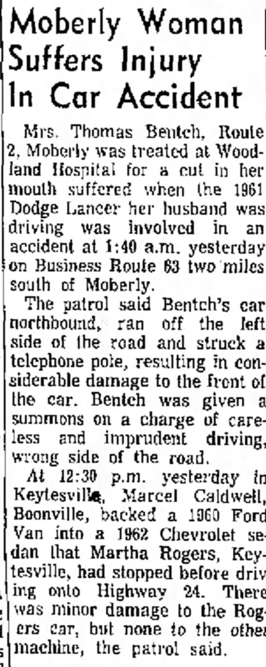 Tommy given ticket and Stella is injured in vehicle accident. December 21, 1964 -