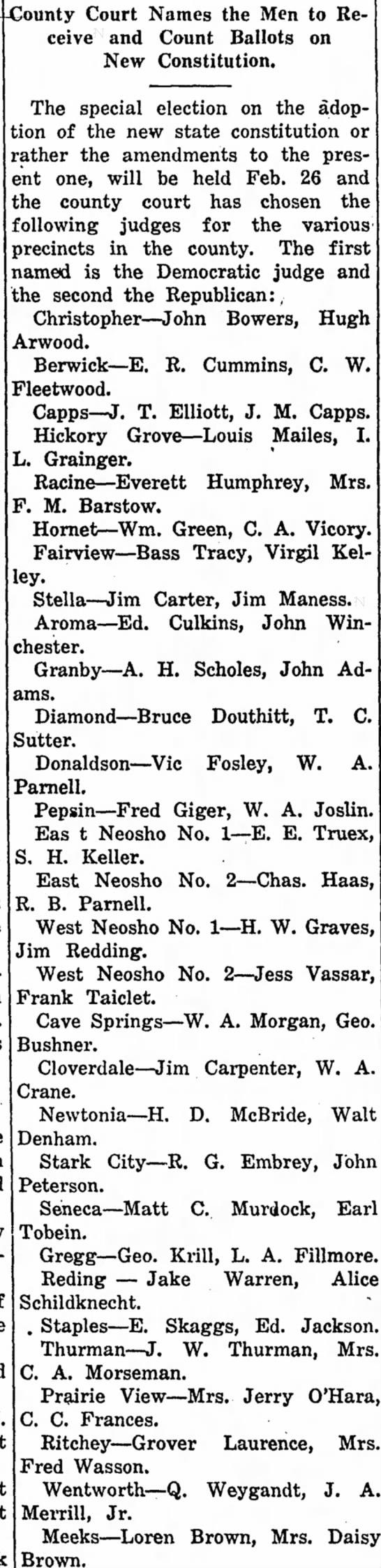 Bruce Douthitt Jan 24, 1924The Neosho Times -
