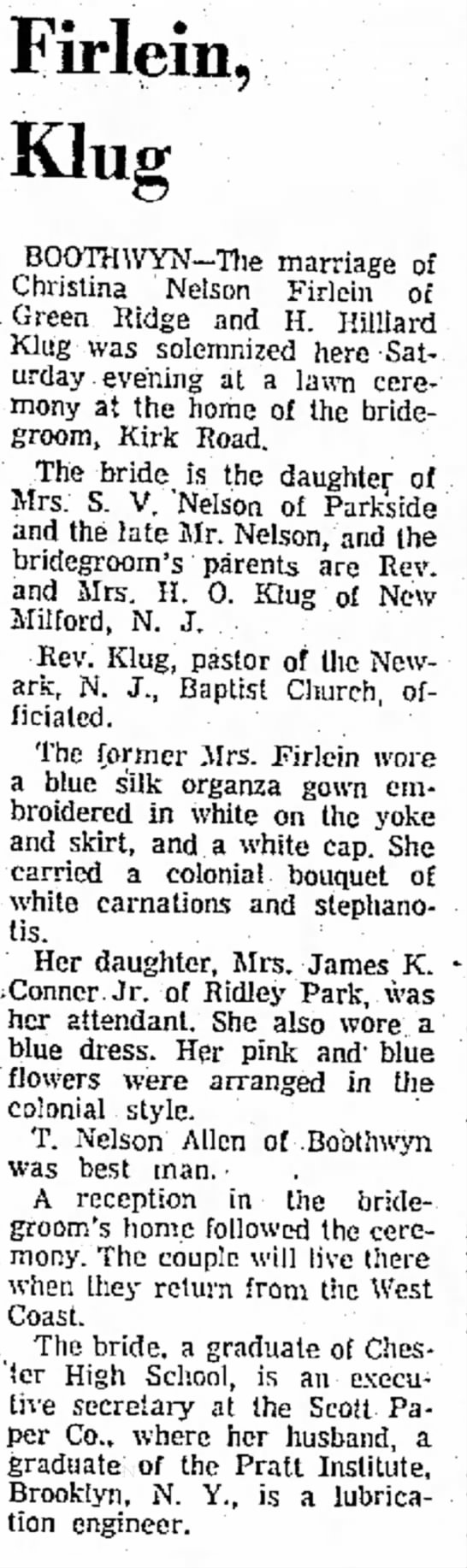 Delaware County Daily Times (Chester, Pennsylvania)   Monday 17 July 1961 -