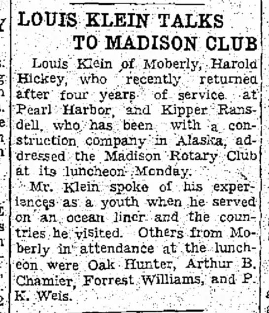 Kipper addresses Madison Rotary Club -