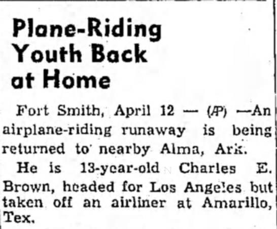 Airplane Runaway Returned Home -