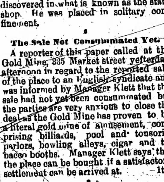 Gold Mine Klett -