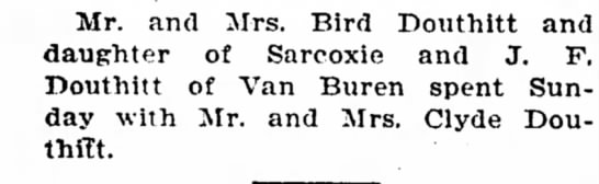 Bird, J. F. and Clyde DouthittMay 7, 1925 -