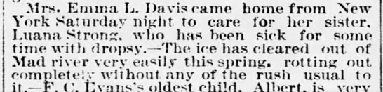 March 28, 1889 The Burlington Free Press Emma cares for her sister -