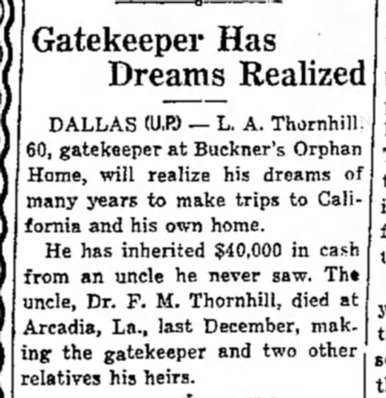My Grandfather, Leander Albert Thornhill - Newspapers com