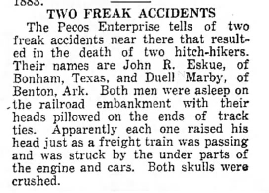 Two Freak Accidents -