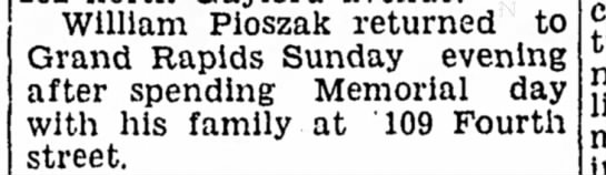 Willaim Pioszak Sr