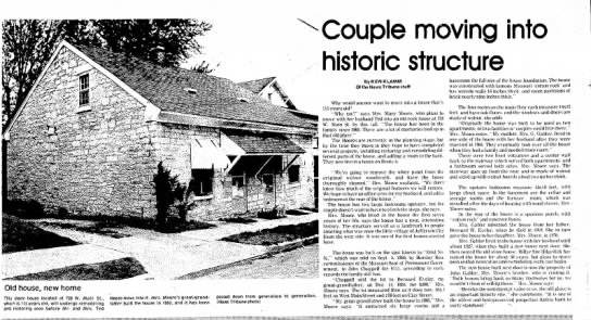 Bernard Eveler Home. News Paper Artical -