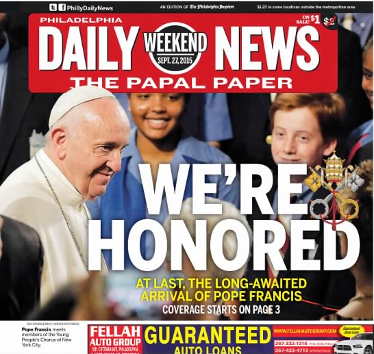 Pope Francis visits Philadelphia, 2015 - RAYSTUBBLEBINE ASSOCIATED PRESS Pope Francis...