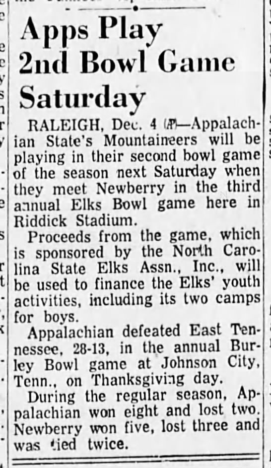 Elks Bowl 1954 venue -