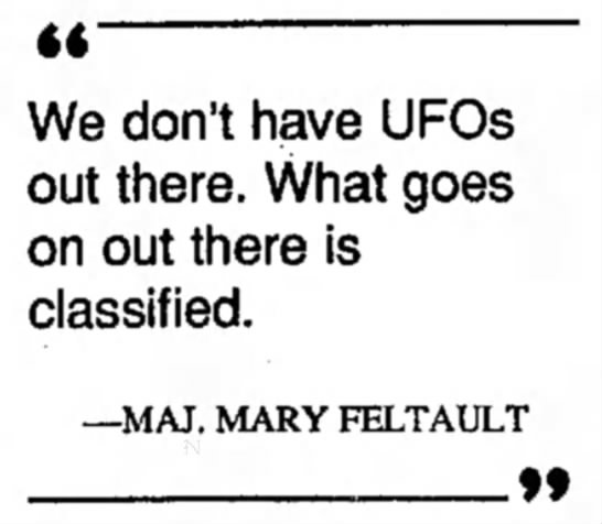 Area 51 - We don't have UFOs out there. What goes on out...